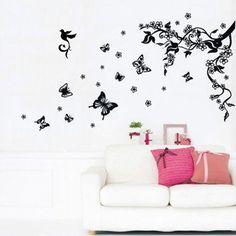http://ift.tt/1m2gcQR Walplus Wandtattoo Schmetterlinge / Zweige / Blumen $!nesingy#