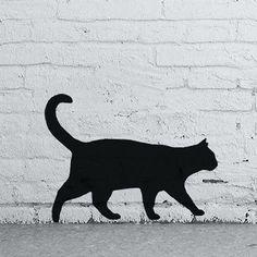 Gato-Preto-Silhueta-estencil-Arte-Artesanato-Pintura-reutilizaveis-Estenceis-Ideal
