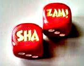 SHA ZAM! dice (Pair)