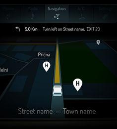 Graphic User Interface for electric car - Škoda Citigo on Behance