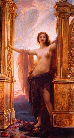 Eos. Herbert James Draper, The Gates of Dawn, 1900- In Greek mythology Eos is the Morning Star, also known as Dawn. She brings light to each day and her tears are considered to have created the morning dew. She was, at one point, a lover of Ares, god of war. This lead to disastrous results when the goddess Aphrodite grew jealous and cursed Eos to fall in love with many men, none of whom loved her back