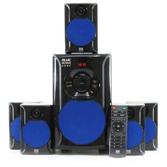Blue Octave's 6 piece, 600 watt system includes 1 powered subwoofer and 5 satellite speakers, all the necessary cables and instructions needed for simple integration. This system makes for an excellent addition to any home theater, PC or game system.