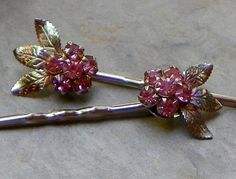 Decorative Bridal Pink Crystal Flower Bobby Pins by WillowBloom Perfect Pink, Cluster Earrings, Crystal Flower, How To Make Hair, Gorgeous Hair, Hair Jewelry, Up Hairstyles, Hair Pieces, Aurora