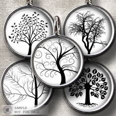 Trees  20mm 18mm 16mm 14mm and 12mm circles  by CobraGraphics, $4.50