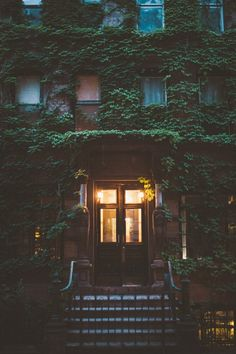 east village house with ivy