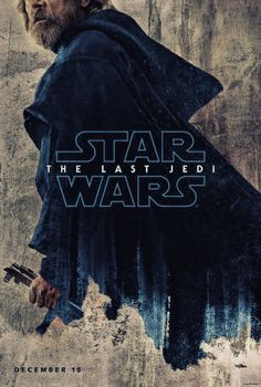 Star Wars The Last Jedi. Luke Skywalker Poster, colorized blue.
