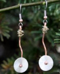 Dream earrings. handcrafted in Colorado Check out Aspen Leaf Market website for details.