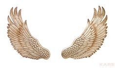 Wall Decoration Wings Silver (2/Set)