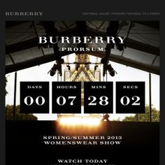 Your Invitation to Watch the Burberry S/S13 Runway Show Live | Email Institute