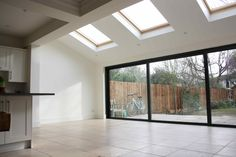 Take a look at our kitchen extension and side return gallery. View our variety of Extensions in the capital. Request a Free Quote online. Kitchen Diner Extension Glass, Kitchen Extension Side Return, Glass Extension, House Extension Design, House Design, Extension Ideas, Rear Extension, Building A Kitchen, Building A House
