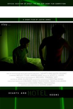 Hearts and Hotel Rooms Gay Film Poster - winner of HBO SHOUT GLBT film competition and LogoTV The Click List: Best in Short Film Winner. #gayfilm #gaymovie #gay Watch the Directors Cut available on YouTube HD: http://youtu.be/H5OXYsRNDlY
