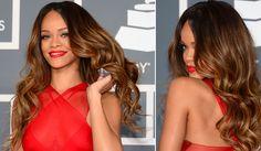 Rihanna's honey hued balayage