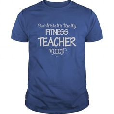 Fitness Teacher Keep Calm or I Will Use My Voice T Shirts, Hoodie. Shopping…