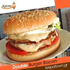Ναι, μπορείς να νιώσεις και εσύ την χαρά που σου προσφέρει ένα Double Burger Bacon🥓🥓🍔  ☎️ 2310.632180 💻 www.krepatown.gr 📍 Μιχαήλ Καραολή 20, Συκιές  #krepatown #Συκιές #Νεάπολη #Πολίχνη #yummy #delicious #stayhome #delivery