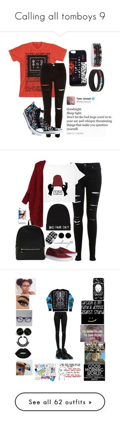 """Calling all tomboys 9"" by weirdgirl7204 ❤ liked on Polyvore featuring River Island, Miss Selfridge, Local Heroes, Deux Lux, Vans, AeraVida, Waterford, J Brand, Lime Crime and Converse"