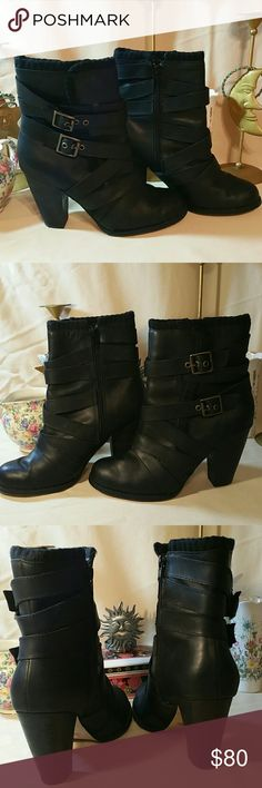 Seychelles Leather Ankle Boots EUC Excellent Used Condition. Worn once. No blemishes. Like New. Leather with cloth floral lining. Size 7.5. With 3.5 heel. Seychelles Shoes Ankle Boots & Booties