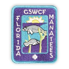 GSWCF Florida Manatee Fun Patch - requirements in the product details. Manatee Florida, Girl Scout Patches, Cool Patches, Girl Scouts, Mammals, Habitats, Pup, Survival, Kids Rugs