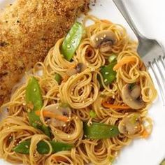 The Best Healthy Recipes: Asian Spaghetti Recipe Think Food, I Love Food, Food For Thought, Good Food, Yummy Food, Tasty, Asian Recipes, New Recipes, Cooking Recipes