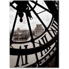 Trademark Fine Art Big Clock Canvas Art by Chris Bliss, Size: 14 x 19, Multicolor