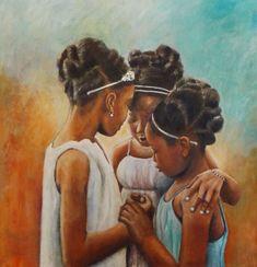 Super african art for kids daughters Ideas Black Art Painting, Black Artwork, Black Girl Art, Art Girl, Black Girls, Black Women, Natural Hair Art, Black Art Pictures, Art Africain