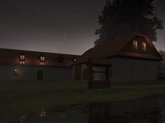 Night visualization, reconstruction farmhouse.