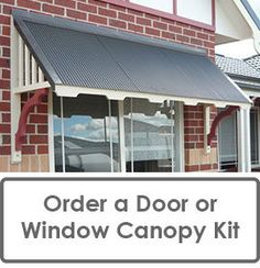 Order A Window Canopy Or Window Awning Kit Or Door Canopy Kit