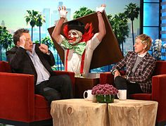 Ellen DeGeneres Scares the Crap Out of Eric Stonestreet With Clown - Us Weekly