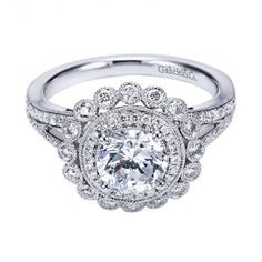 59 Ideas For Wedding Rings Vintage Victorian Halo Engagement Gabriel Cinderella Engagement Rings, Antique Engagement Rings, Engagement Jewelry, Engagement Ring Settings, Wedding Jewelry, Wedding Engagement, Double Halo Engagement Ring, Diamond Engagement Rings, Diamond Rings