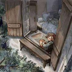 window by sanoe on DeviantArt Character Design References, Character Art, Art Magique, Inspiration Artistique, Children's Book Illustration, Watercolor Illustration, Doodle Drawings, Deviantart, Pretty Art