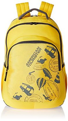 Buy  7  American Tourister 25 Lts Yellow Casual Backpack (CLICK 2016) 8979b014a78ab