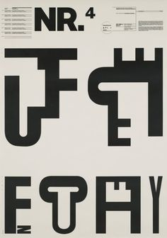 "Typographic Process, Nr 4. Typographic Signs by Wolfgang Weingart, 34 1/2 x 24 1/4"" (1971)"