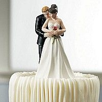 'Single Rose' Bride and Groom Figurine Cake Topper