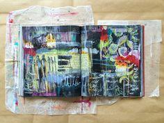 pathways - journal spread // by bun // artist: roxanne coble