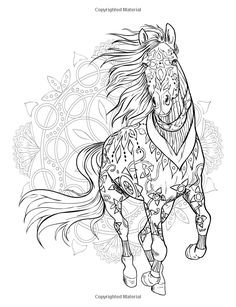 Horse Adult Coloring Page Fresh Pin by Grammy Fran On Horses Horse Coloring Pages, Mandala Coloring Pages, Coloring Pages To Print, Colouring Pages, Coloring Books, Printable Adult Coloring Pages, Horse Drawings, Horse Art, Sketches