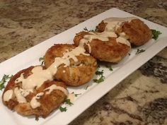 Best crab cake recipe ever.  Made with jumbo lump crab meat not the canned stuff. Sauce is fantastic too.