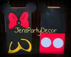 handmade mickey and minnie mouse paper candy/goodie bags | eBay