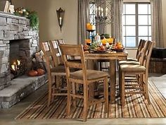 BLANCHE-9pcs-Cottage-Rectangular-Counter-Height-Dining-Room-Table-Chairs-Pub-Set