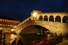 Rialto Bridge, Venice, Italy--there is the most delicious gelato place right at the end of the bridge.