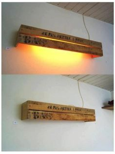 10 inventive ideas of wood pallet lamps