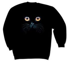 Black Cat Sweatshirt - Clothing - Shop by Category from Whales & Friends Catalog