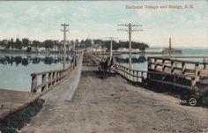 Village-Bridge-BATHURST-New-Brunswick-Canada-1909-Valentine-Postcard