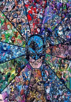 """""""Batman Villians"""" by Mr Garcin Fan Art Batman, Im Batman, Spiderman, Arte Dc Comics, Dc Comics Art, Batman Poster, Batman Wallpaper, Comic Collage, Comic Art"""