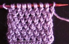 Purl Twist Stitch, a woven diagonal herringbone knit stitch - nice stitch for showing of variegated yarn.