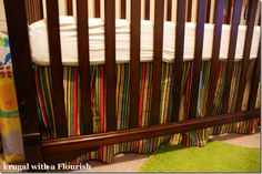 How to make a crib bedskirt.