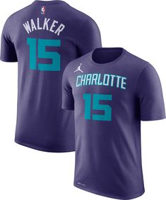 993ebdee7 Jordan Youth Charlotte Hornets Kemba Walker  15 Dri-FIT Purple T-Shirt