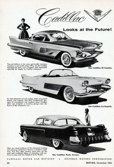 1954 Cadillac El Camino, La Espada, and Park Avenue Concepts.