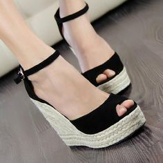 Cheap heels for men fashion, Buy Quality sandals 12 directly from China sandals stock Suppliers: Summer new arrival 2017 women's shoes fashion sexy straw braid buckle open toe platform wedges female 10cm high heels sandals