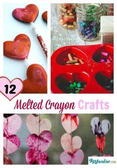 12 Melted Crayon Crafts #kids