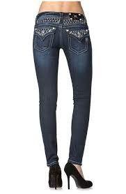 Miss Me® Rhinestone Studded Flap Pocket Skinny Jeans - JP6240S