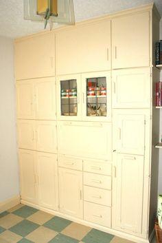 1930s kitchen cupboard
